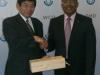 Courtesy visit Amb Nkosi to WCO Sec-Gen Dr K Mikuriya