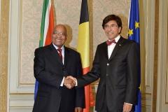 H.E. Jacob Zuma & P.M. Elio Di Rupo 18-09-2012