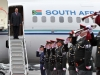 President Jacob Zuma arrives in Brussels Belgium for the SA EU Summit meeting.