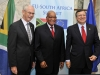 President Jacob Zuma with President of EU Council Mr Herman van Rompuy (left) and EU Commission, President José Manuel Barosso (right).
