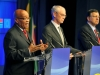 President Jacob Zuma with President of the European Council, President Van Rompuy, and the President of the EU Commission, President José Manuel Barosso during a press conference.Media Release17 September 2012President Zuma leads South African delegation to the 5th SA-EU SummitHis Excellency President Jacob Zuma will lead a South African Government delegation to the 5th South Africa (SA)-European Union (EU) Summit, scheduled to take in Brussels, Belgium, on Tuesday, 18 September 2012.The Summit takes place within the context of the on-going political dialogue – the Magôbagôba Dialogue – under the auspices of the SA-EU Strategic Partnership and the SA-EU Trade, Development and Cooperation (TDCA).This year's Summit takes place against the backdrop of another milestone between the two regions – the full implementation of the TDCA, which was first signed in 1999 as a legal basis for overall relations between South Africa and the EU. In this regard, on 01 January 2012, the final obligations were met for the SA-EU Free Trade Area to come into existence.The Summit will build on the positive progress that has been made thus far since the last Summit in the Kruger National Park in 2011.Issues to be discussed at this year's Summit will include progress on the implementation of the SA-EU Strategic Partnership; the on-going negotiations on SADC-EU Economic Partnership Agreements (EPAs); Upcoming COP18, Assessment of the Rio+20 Conference held in Brazil in June; Peace and Security issues in Africa and the Middle East, and G20.This year's SA-EU Summit is preceded by the inaugural SA-EU Business Forum, which is being held in Brussels today, 17 September 2012. The Business Forum will be addressed by the Minister of Trade and Industry, Minister Rob Davies and the EU's Commissioner of Trade, Mr Karel De Gucht.The President will on the morning of 18 September, immediately before the Summit deliver a keynote address at the SA-EU Science and Technology Cooperation seminar to be held in Brussels. The seminar is celebrating 15 years of Science and Technology Cooperation between South Africa and the EU.The EU is very important to South Africa. It remains South Africa's largest trading partner, largest investor and largest donor of Development Assistance.The two-way trade between South Africa and the EU has continued to grow, making the EU as a single customs territory, South Africa's largest trading partner. In 2001 the EU accounted for 26% of the value of SA trade flows.  In 2011 South Africa exported to the EU goods worth R152 billion and imported R 223 billion, giving the EU a trade surplus with South Africa of R71 billion.The EU's Foreign Direct Investments (FDI) stock in South Africa comprises 77 percent of South Africa's total FDI.The EU's ODA to South Africa amounts to €980 million for the period 2007-2013, with further €900 million from the European Investment Bank (EIB) for the same period.  Furthermore, the EU remains one of South Africa's largest source of tourists, over 1,2 million tourists came from 17 EU countries in 2011.H. E. President Zuma will be accompanied by Minister Maite Nkoana Mashabane of International Relations and Cooperation; Minister Rob Davies of Trade and Industry; Minister Naledi Pandor (Science and Technology); Minister Dipuo Peters (Energy); Minister Pravin Gordhan (Finance) and Deputy Minister Thabang Makwetla (Defence and Military Veterans).The EU Delegation will be led by President of the European Council, President Van Rompuy, and the President of the EU Commission, President José Manuel Barosso. High Representative Cathrine Ashton will also be in attendance on the EU side.For further information please contact Mr. Clayson Monyela spokesperson for DIRCO on +27 82 884 5974ISSUED BY THE DEPARTMENT OF INTERNATIONAL RELATIONS AND COOPERATIONOR Tambo Building460 Soutpansberg RoadRietondale