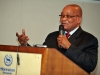 President Jacob Zuma attending the Science and Technology meeting between South Africa and the European Union.