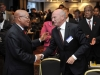 President Jacob Zuma attending the Science and Technology meeting between South Africa and the European Union.  Shaking hands with the President is Mr Roeland Van de Geer, Head of EU Delegation to South Africa.